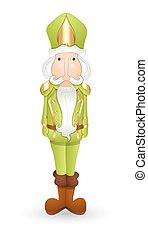 Funny Nutcracker Character Vector - Cartoon Funny Nutcracker...