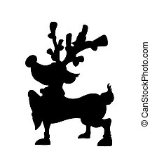 Reindeer Shape - Cartoon Funny Christmas Reindeer Animal...