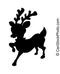 Cute Reindeer Shape - Cartoon Wild Cute Small Reindeer...