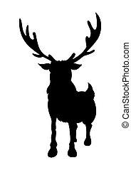 Standing Reindeer Shape - Cartoon Wild Reindeer Animal...