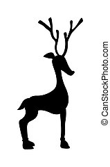 Small Reindeer Shape - Cartoon Funny Long Xmas Reindeer...