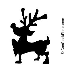 Cute Christmas Reindeer Shape - Cartoon Xmas Reindeer Animal...