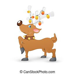 Christmas Reindeer - Funny Young Christmas Decorative...