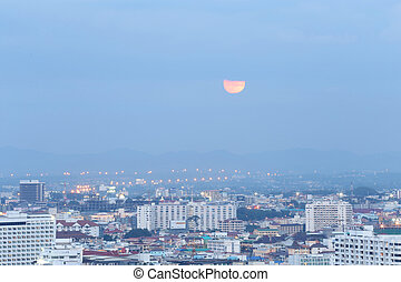 Landscape of Pattaya City - Landscape of Pattaya City in...