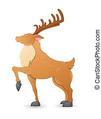 Dancer Christmas Reindeer - Cartoon Young Adult Healthy...
