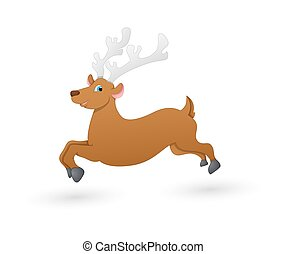 Vixen Running Reindeer - Cartoon Funny Christmas Blitzen...