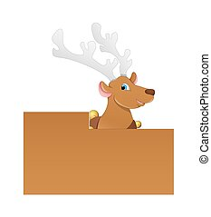 Dancer Cartoon Reindeer Character - Dancer Cartoon Reindeer...