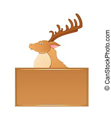 Cartoon Prancer Reindeer Vector - Cartoon Prancer Reindeer...