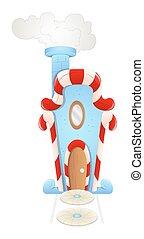 Cartoon Santa House