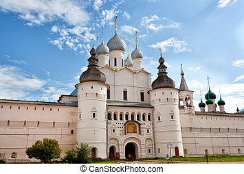 Gate of the Rostov Kremlin and Assumption Cathedral