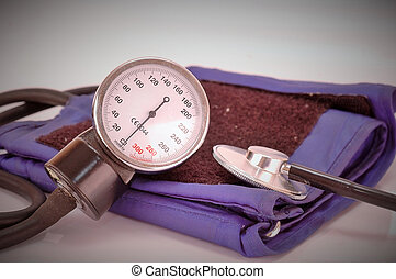 Blood pressure measuring. Health care concept