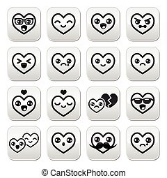 Kawaii hearts, Valentines Day cute - Japanese Kawaii...