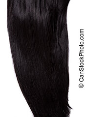 Healthy black straight hair