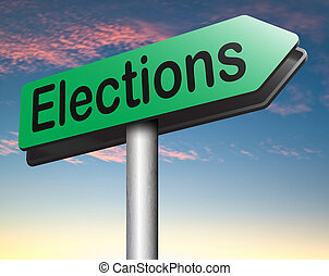 elections to get new government or president free election...