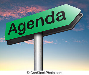 agenda todays timetable and business schedule organizing and...