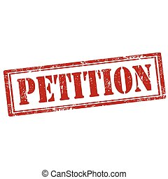 Petition-stamp - Grunge rubber stamp with text...