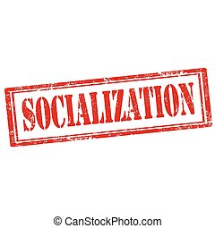 Socialization-stamp - Grunge rubber stamp with text...