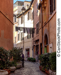Laundry in Trastevere district of Rome, Italy