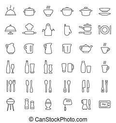 cooking kitchen icons,