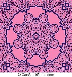 Pink seamless mandala