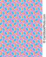 Colored Geometric Pattern - Modern Geometric Pattern with...