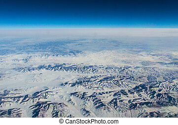 Gobi - China, aerial view of Gobi Desert in western China...