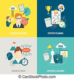Coaching Business Flat - Coaching business design concept...