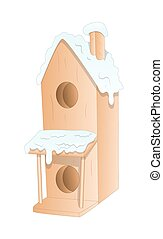 Christmas Snowman House Vector