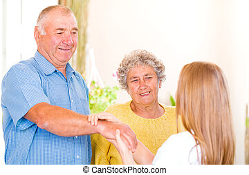 Elderly home care - Photo of an elderly couple with the...