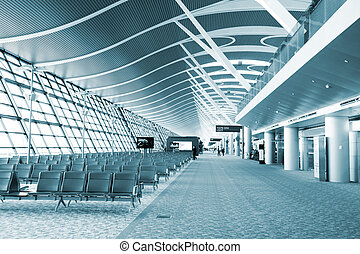 interior of modern building - interior of the airport...