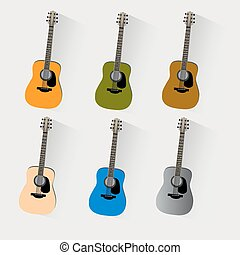 vector, guitars, ,