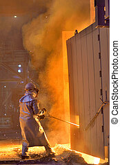 Worker in a foundry