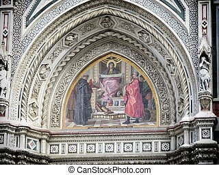 Florence Cathedral - a view of Florence cathedral, Italy