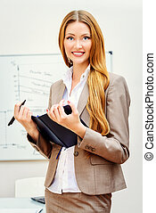 hr managergirl - Business woman standing at the office with...