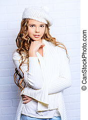 ringlet - Cute teenager girl with beautiful long curly hair...
