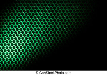 Bubble wrap lit by green light Abstract background