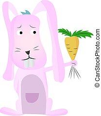 illustration of cartoon rabbit vector