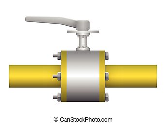 Valve - Illustration of valve and steel pipe