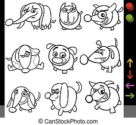 dogs game characters coloring page