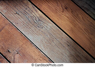 Wood siding background - Wood siding with exposed nails