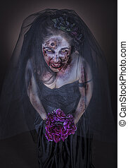 zombie bride - is a zombie dressed in a wedding dress