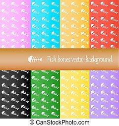 Fish bones vector background.
