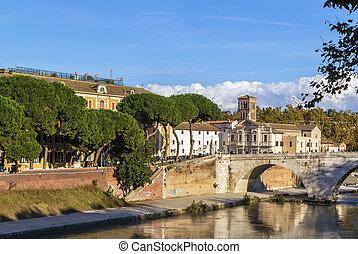 Pons Fabricius, Rome - The Pons Fabricius Fabricius Bridge...