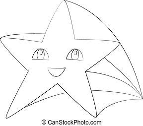 Cute cartoon stars set. Vector design elements.