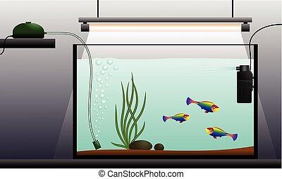 Aquarium - Schematic representation of the aquarium Aquarium...