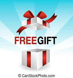 3d Free Gift - An image of a 3d free gift icon