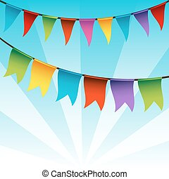 Bunting Flag Decoration - An image of a string of bunting...