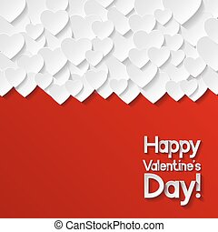 Valentines day greeting card Vector illustration
