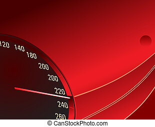 Speedometer. Red template