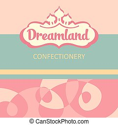 Vector logo and design elements for the confectionery.